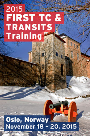 Oslo 2015 FIRST TC and TRANSITS Training