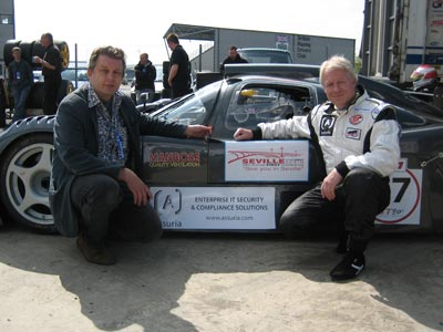 Ian Cook and Terry Pudwell at GT90's Revival Race